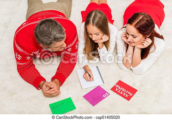 chapeaux, famille, santa - csp51405020