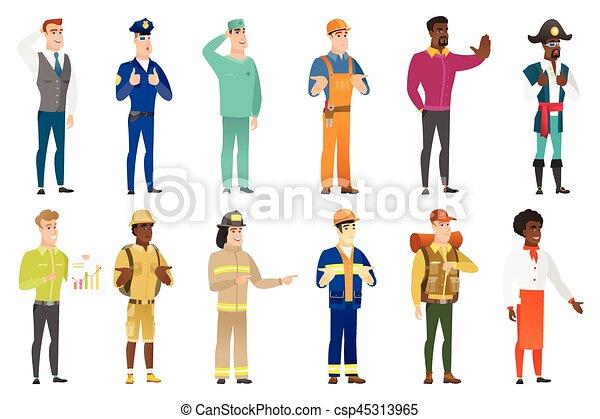 characters., professions, vecteur, ensemble - csp45313965