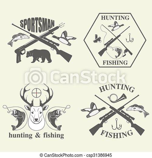 chasse, ensemble, peche, vendange - csp31386945