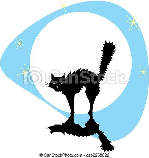 chat, noir, lune - csp2268822