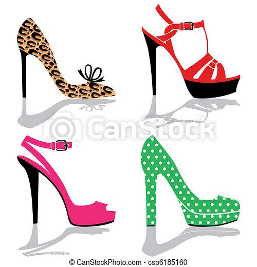 chaussure, collection, femmes - csp6185160