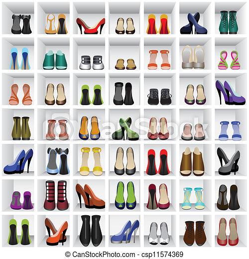 chaussures, étagères - csp11574369