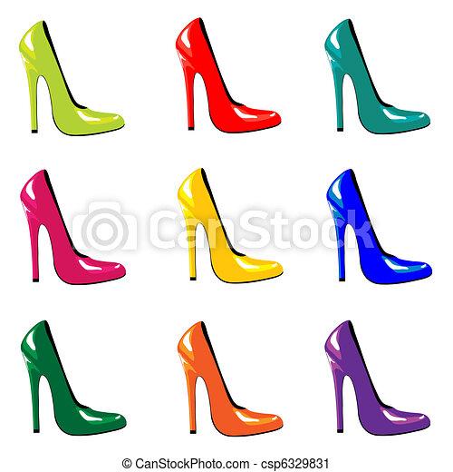 chaussures, coloré - csp6329831