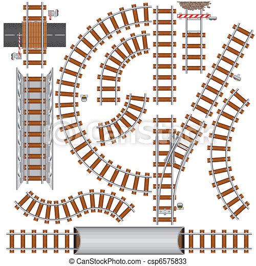 chemin fer, éléments - csp6575833