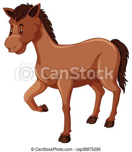 cheval brun, fourrure - csp38875295
