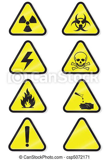 chimique, ensemble, avertissement, signs. - csp5072171