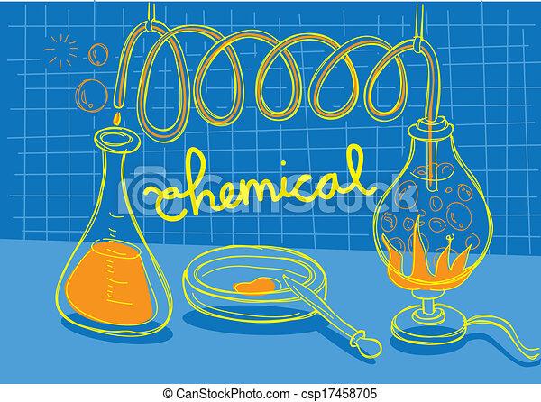 chimique, expérience - csp17458705