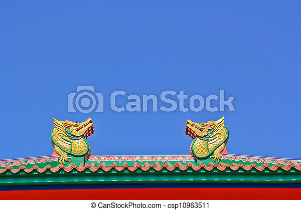 chinois, temple - csp10963511