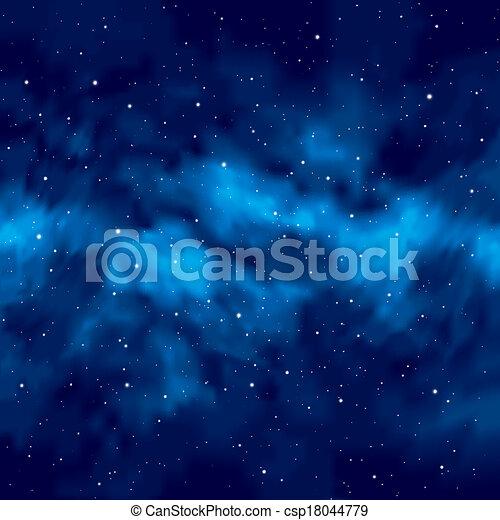 ciel, étoiles, nuit - csp18044779