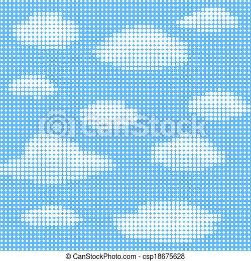 ciel bleu, nuages - csp18675628