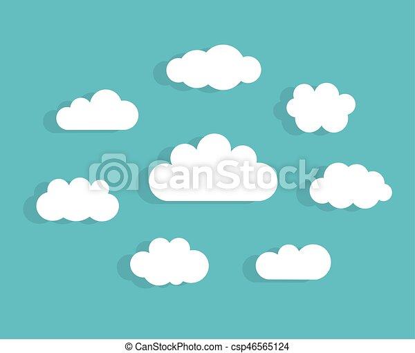 ciel bleu, nuages - csp46565124
