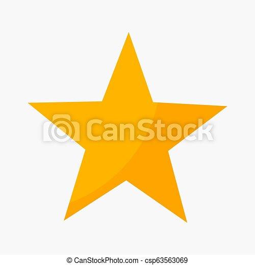 cinq, classement, point, étoile, icône - csp63563069