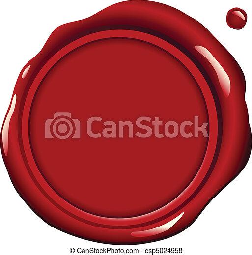 cire, rouges, cachet - csp5024958