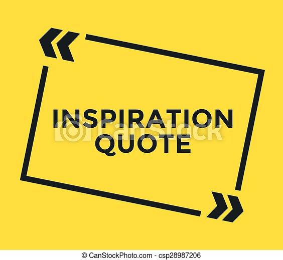 citation, quote., motivation, élément, vecteur, inspirationnel, note., stockage, inspiration, design. - csp28987206