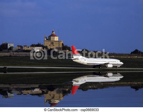 civil, avion - csp0669033