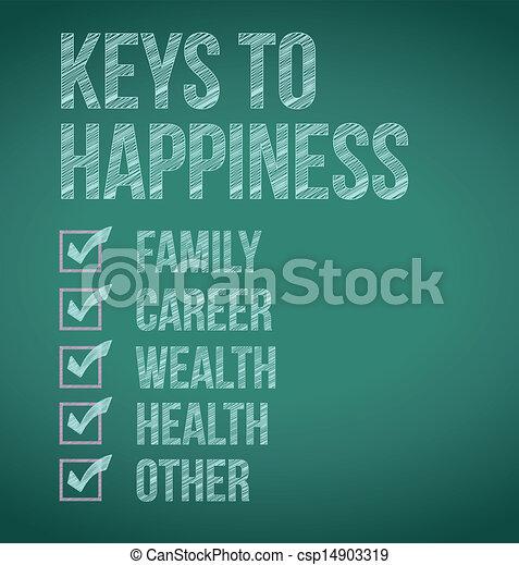 clés, conception, bonheur, illustration - csp14903319
