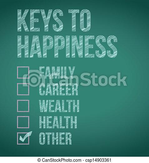clés, conception, bonheur, illustration - csp14903361