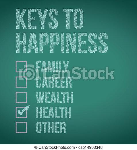 clés, conception, bonheur, illustration, health. - csp14903348