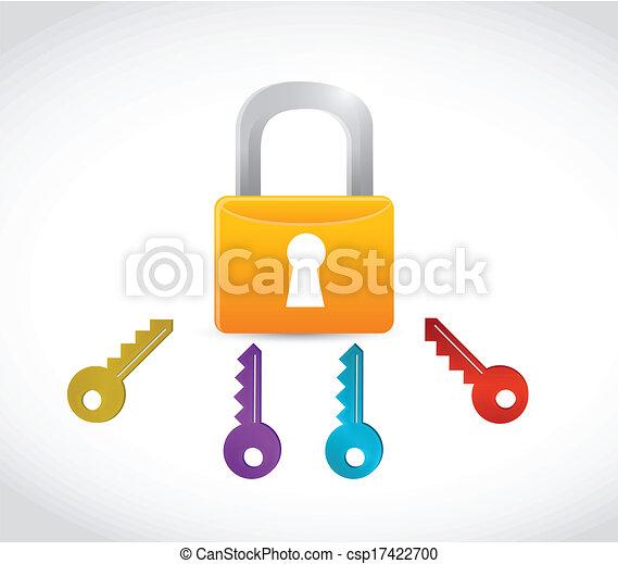 clés, reussite, illustration - csp17422700