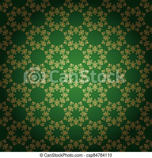 clair, fond, vendange, ornement, vecteur, vert - csp84784110