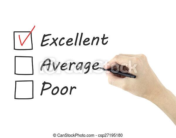 client, formulaire, service, choisir, excellent, évaluation - csp27195180