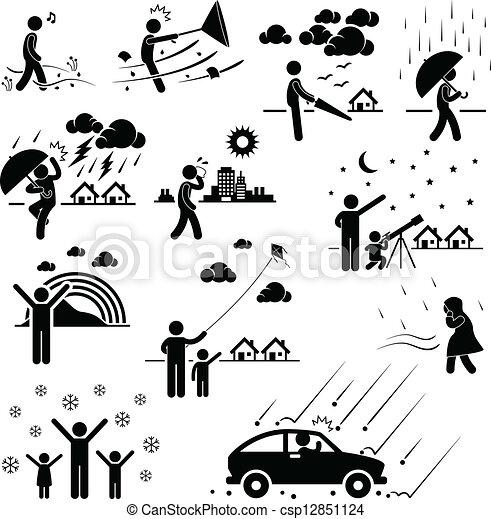 climat, temps, atmosphère, gens - csp12851124