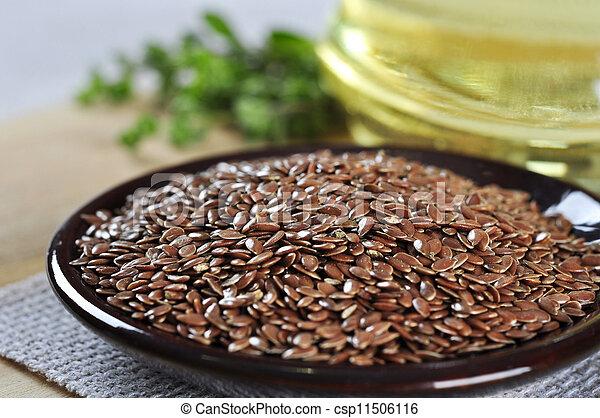 closeup, graines, lin - csp11506116