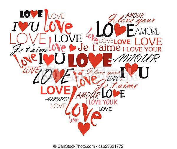 coeur, amour - csp23621772