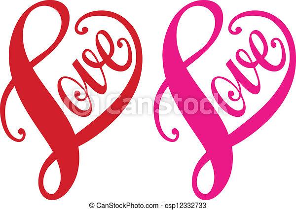 coeur, amour, vecteur, rouges, conception - csp12332733