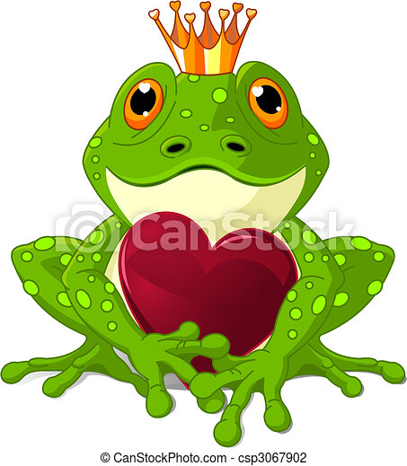 coeur, grenouille - csp3067902