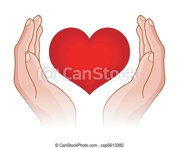 coeur, mains - csp5613382