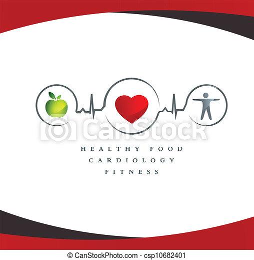 coeur sain, symbole - csp10682401