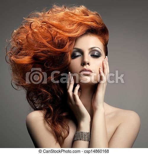 coiffure, portrait., beauté - csp14860168