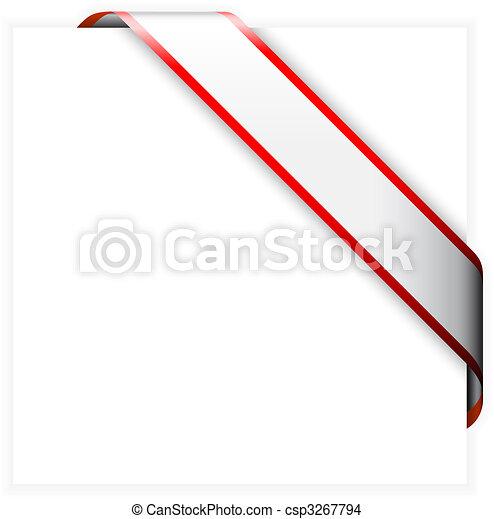 coin, ruban blanc, rouges, coloré - csp3267794