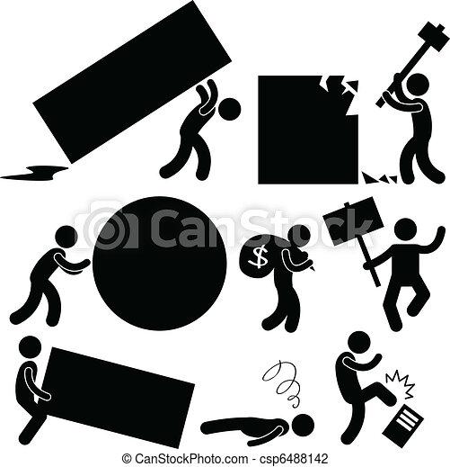 colère, travail, business, fardeau, gens - csp6488142