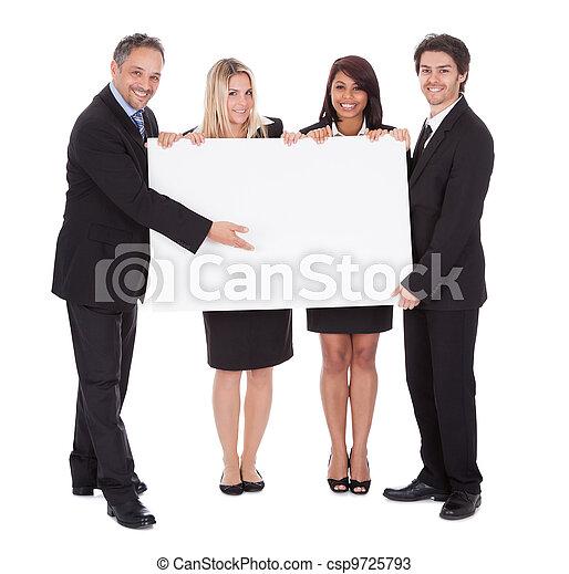 collègues, groupe, business, heureux - csp9725793