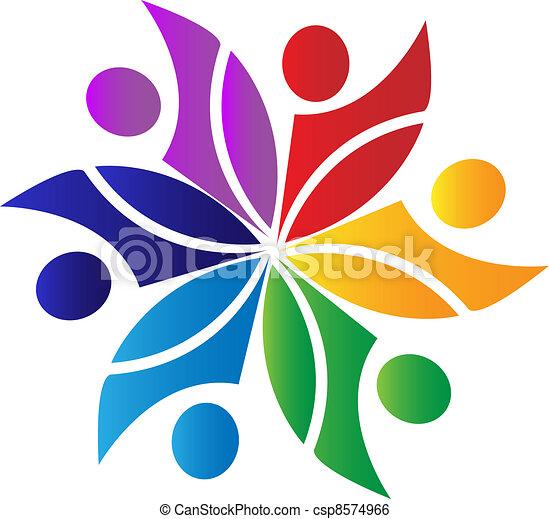 collaboration, diversité, logo - csp8574966