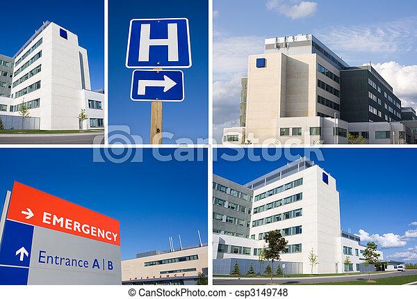 collage, hôpital, moderne - csp3149748
