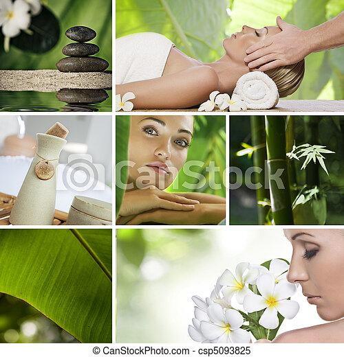 collage, spa - csp5093825