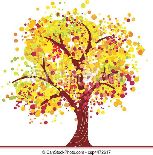 coloré, automne, arbre - csp4472617