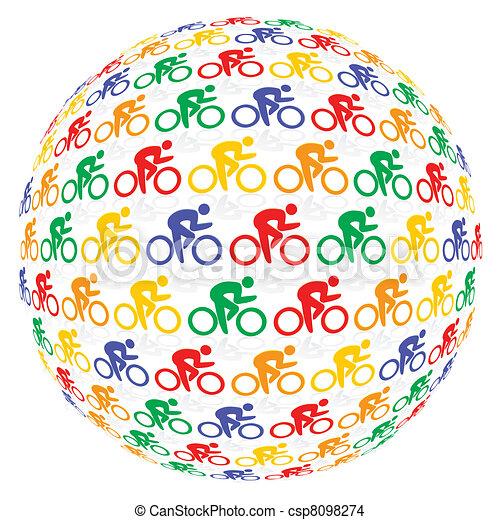 coloré, cyclistes - csp8098274