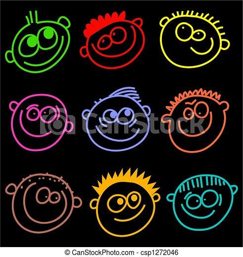 coloré, faces - csp1272046