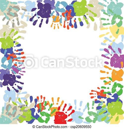 coloré, handprints - csp20609550