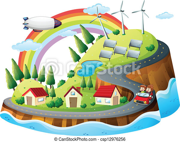 coloré, village - csp12976256
