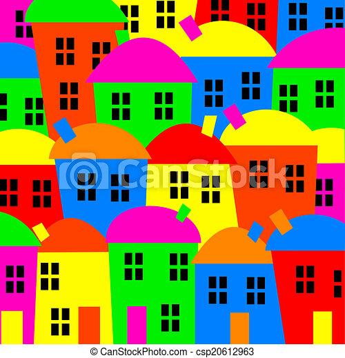 coloré, village - csp20612963