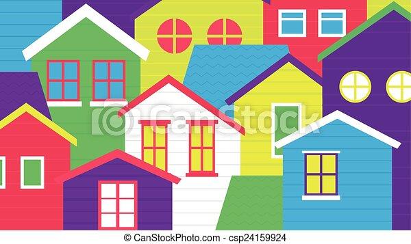 coloré, village - csp24159924