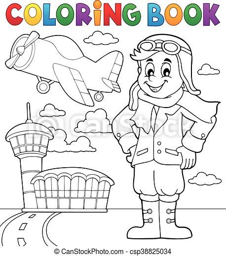 coloration, aviation, livre - csp38825034