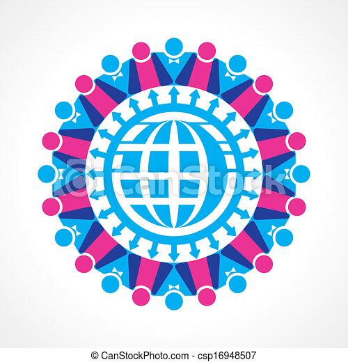 communication, concept, réseau - csp16948507