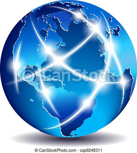 communication, global, mondiale, commerce - csp9248311
