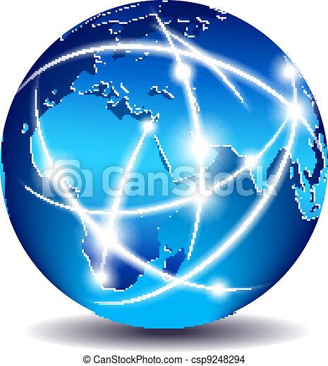 communication, global, mondiale, commerce - csp9248294